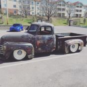 1951 Chevy 3100 prior Store Prop truck, rolling chassis for frame