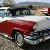 1956 ford sunliner convertible / continental kit