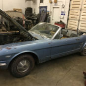 Classic 1966 Ford Mustang Convertible Nightmist Blue 289