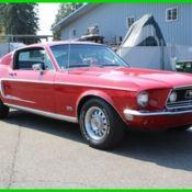 1968 Mustang Fastback, GT, 4 Speed, J code 302 4V, Presidential Blue