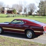 1969 mustang mach 1 indian fire with white deluxe interior barn find classic ford mustang. Black Bedroom Furniture Sets. Home Design Ideas