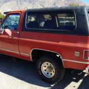 1972 Chevy Blazer 4x4 37 in tires  14 bolt rear end  1992