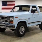 1986 Ford Bronco 80643 Miles Light Blue Suv 302ci V8 4 Sd Automatic