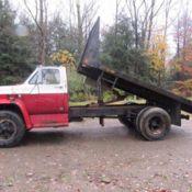Dump Truck Chevy C60 1966 Good Mechanical Condition Blue Large Dump