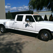 1986 ford f350 diesel crew cab ramp truck rollback car for Mercedes benz c550 for sale