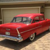 Beautiful original 1956 chevrolet bel air 4 door sedan for 1955 chevy 4 door to 2 door conversion