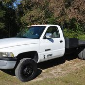 1994 Dodge 1 Ton- 12 v Cummins 5 Speed with flatbed