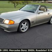 1991 Mercedes Benz R129 300sl Both Tops Red California 300 Sl Classic Mercedes Benz Sl Class 1991 For Sale