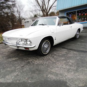 1965 Classic Chevy Corvair Convertible White Black Top