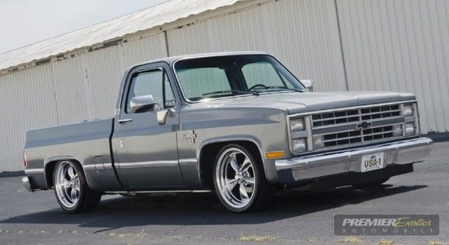 silverado square body c10 shop truck classic chevrolet c k pickup 1500 1987 for. Black Bedroom Furniture Sets. Home Design Ideas