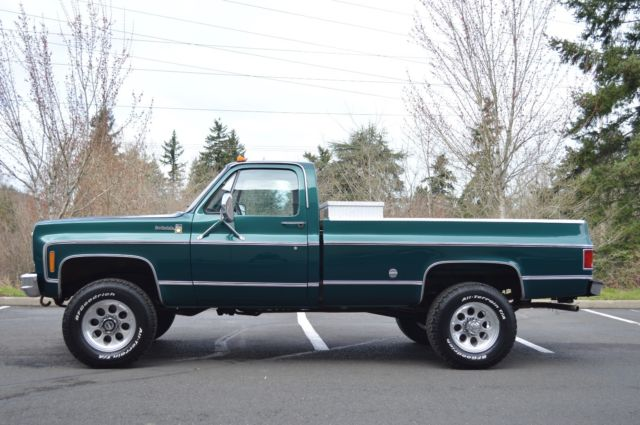 1 OWNER! 1978 CHEVY K20 SCOTTSDALE REGULAR CAB 4X4 ONLY ...