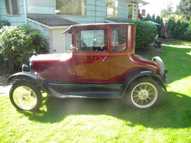 1926 Ford Model T Doctor S Coupe With Trailer Classic