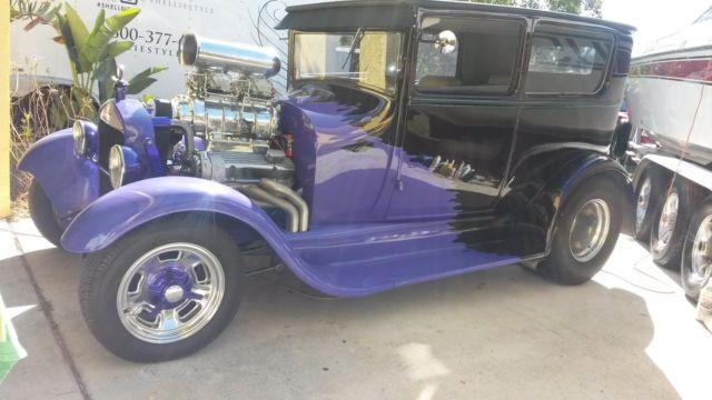 1927 Ford Model T, Pro Street, Blown 421 SBC, Chopped, orig