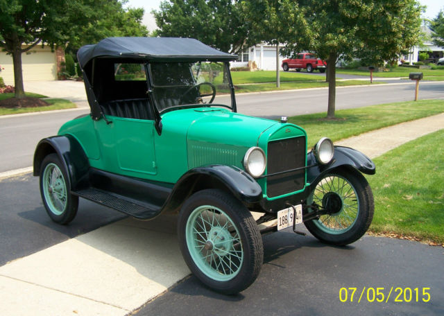 1927 ford model t runabout for sale runs and drives with upgrades classic ford model t 1927. Black Bedroom Furniture Sets. Home Design Ideas