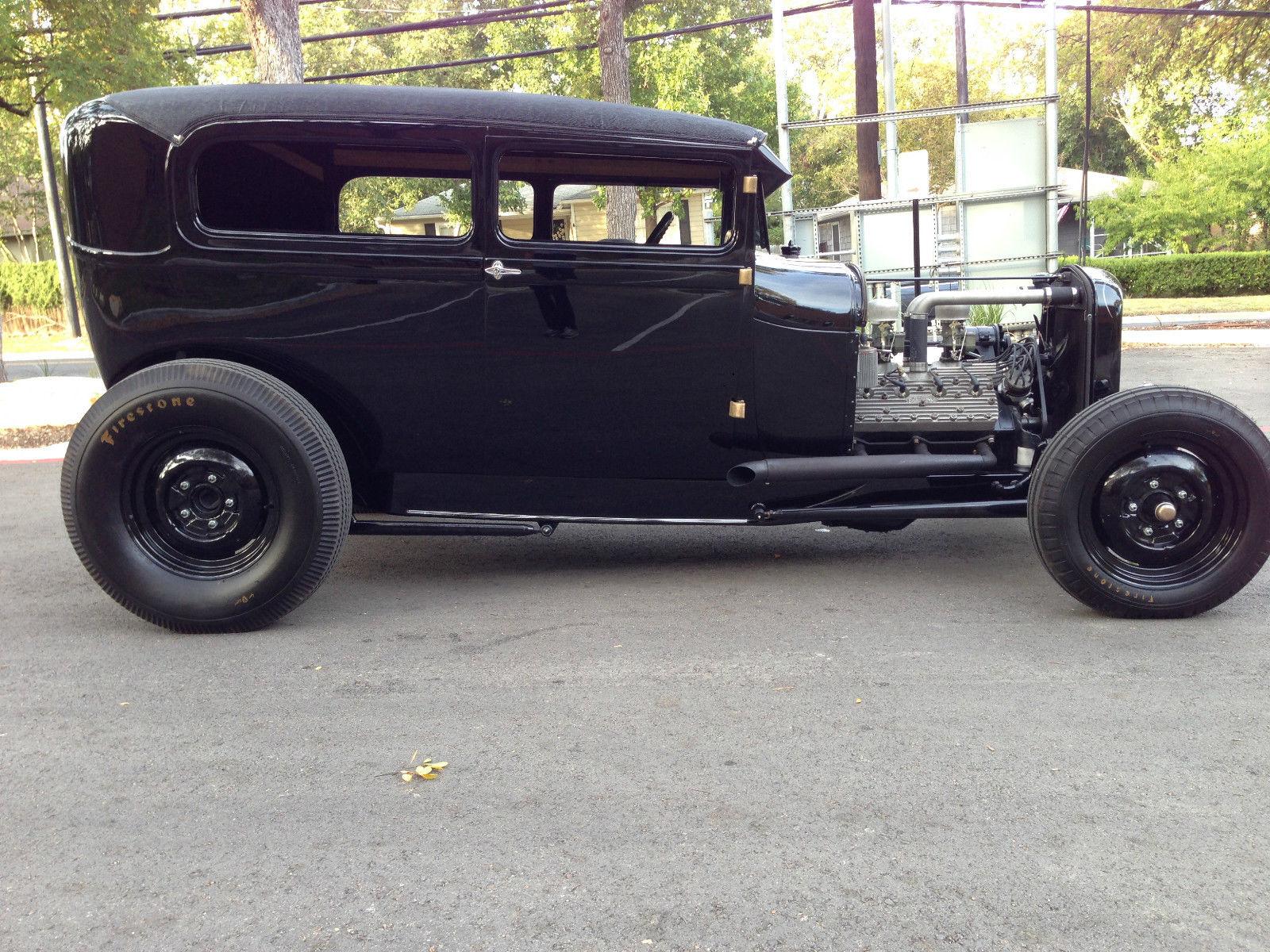 1928 Ford Model A Tudor Sedan 1932 Frame W 1950 Mercury Flathead V8 Fresh Build Classic Ford Model A 1928 For Sale