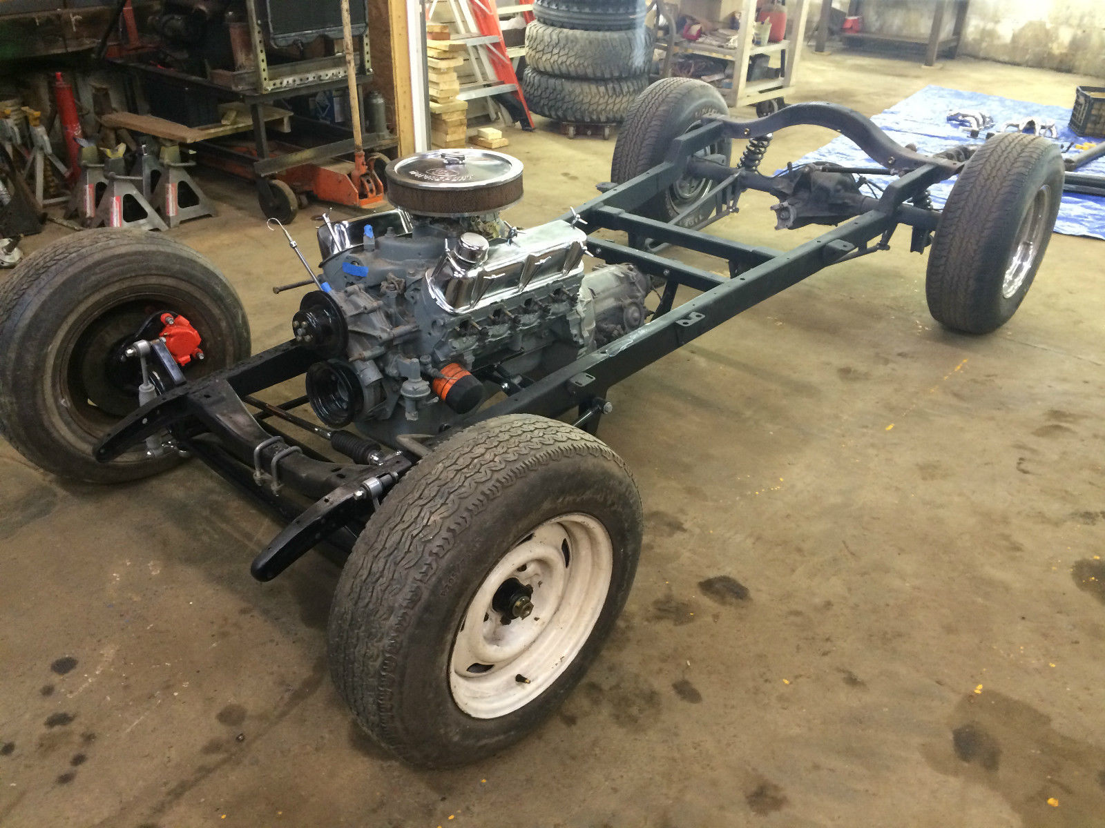 1929 Ford Hot Rod Rolling Chassis With Engine And