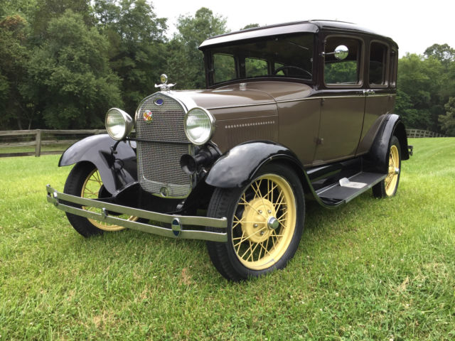 1929 ford model a 3 window fordor four door sedan murray 165 a no reserve classic ford model a for 1929 ford model a 4 door sedan