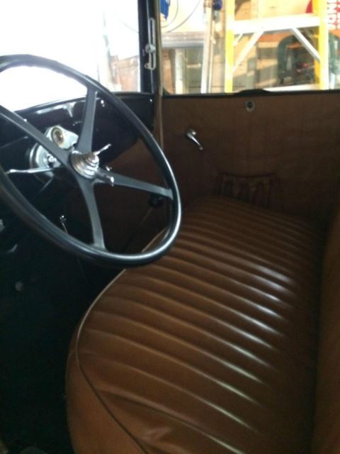 1929 ford model a sport coupe with rumble seat black paint brown interior classic ford. Black Bedroom Furniture Sets. Home Design Ideas