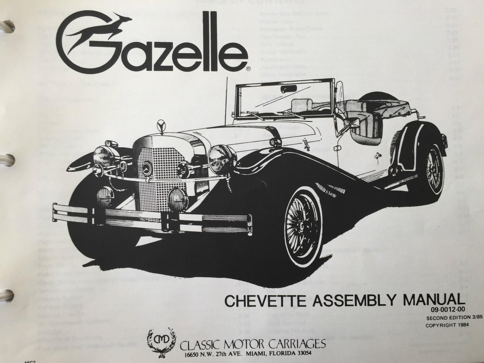 Mercedes Gazelle Kit Car Parts Electrical Schematic