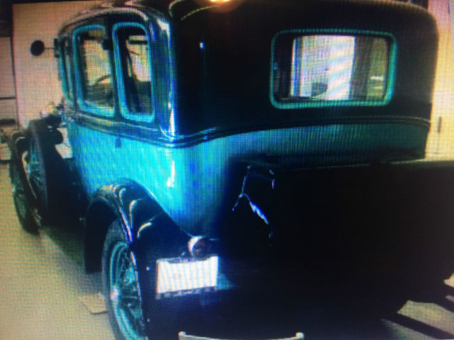1930 ford 4 dr model a blue black nice interior and. Black Bedroom Furniture Sets. Home Design Ideas