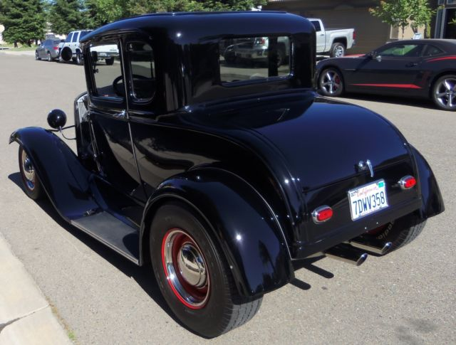 1930 ford model a coupe california all steel body 400hp tci sbc street rod classic ford model. Black Bedroom Furniture Sets. Home Design Ideas