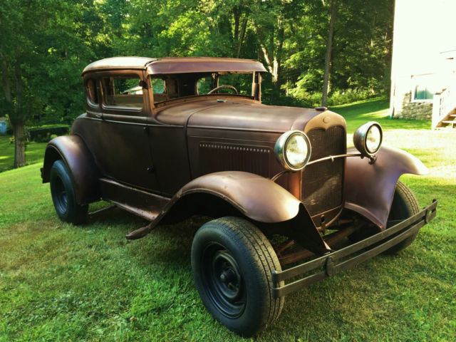 Ford Model A Coupe Traditional Hot Rod V Flathead Patina All Steel Nr