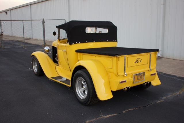 Ford Model A Roadster Pickup Street Rod Chevy V on 151 Chevy Engine