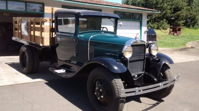 1930 ford model aa 1 5 ton stake bed pickup dually stored indoors last 25 yrs classic ford. Black Bedroom Furniture Sets. Home Design Ideas