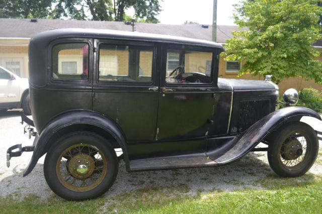 1930 model a ford 4 door sedan 4 cylinder black with for 1930 model a 4 door sedan