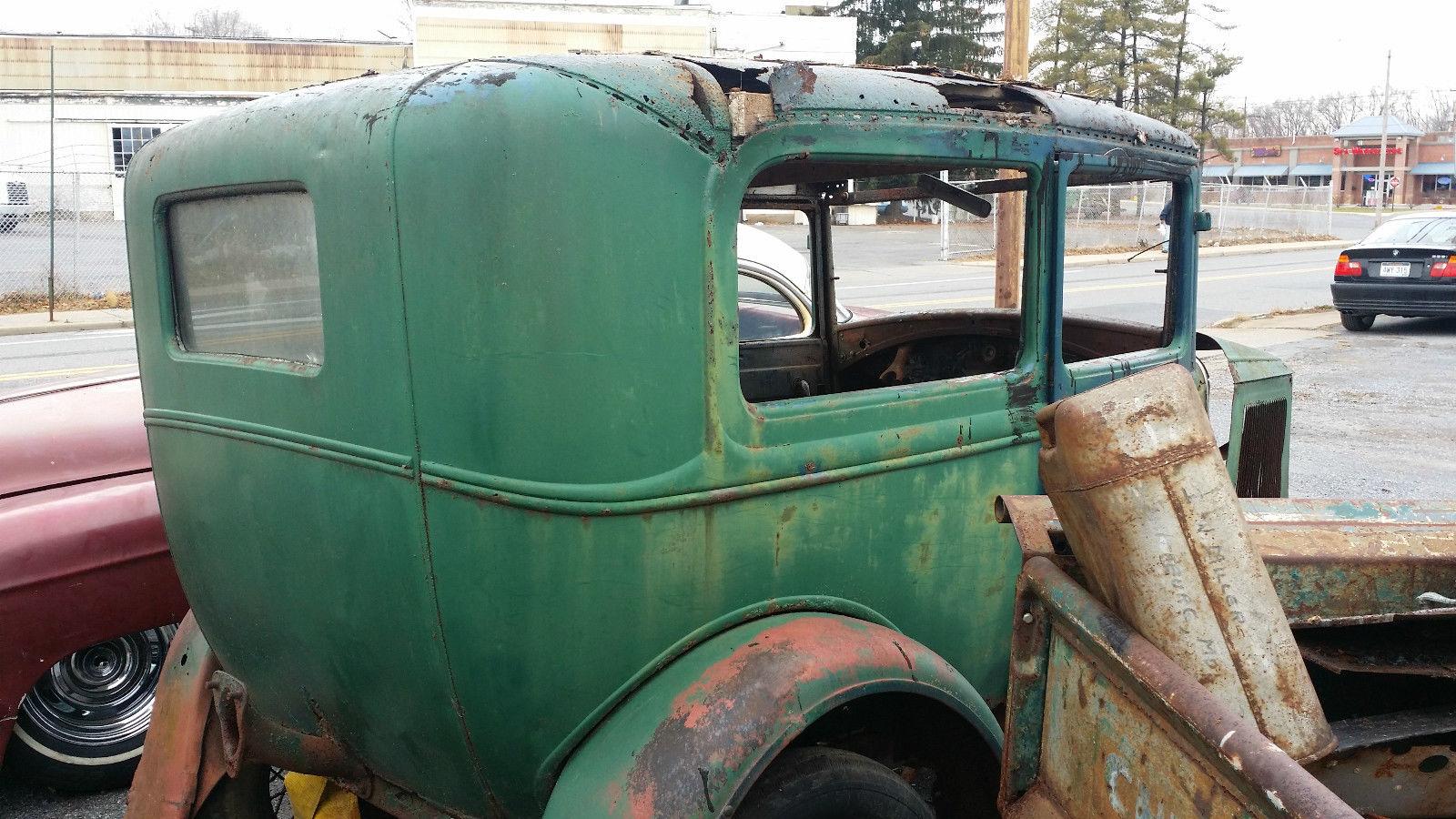 1931 Ford Model A Tudor Sedan Barn Find Rat Rod Project