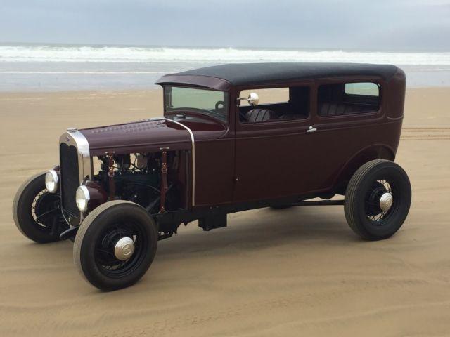 1931 Ford Model A Tudor Sedan Chopped Traditional Hot Rod