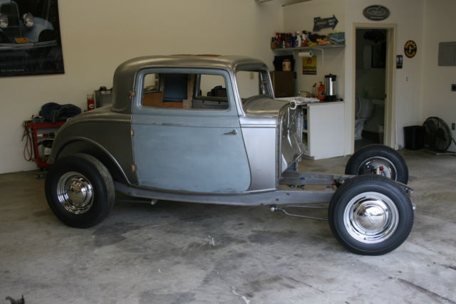 1932 ford 3 window coupe steel brookville body with for 1932 ford 5 window coupe project for sale