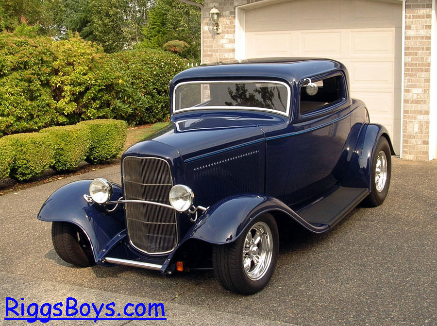 1932 ford 3 window coupe with ravon fiberglass body zz4