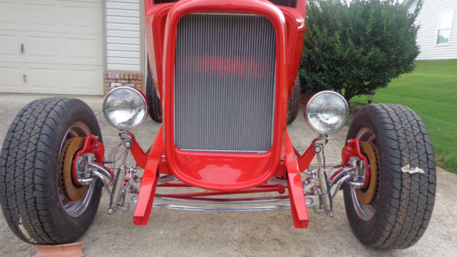 1932 ford five window project car, new painted fiberglass