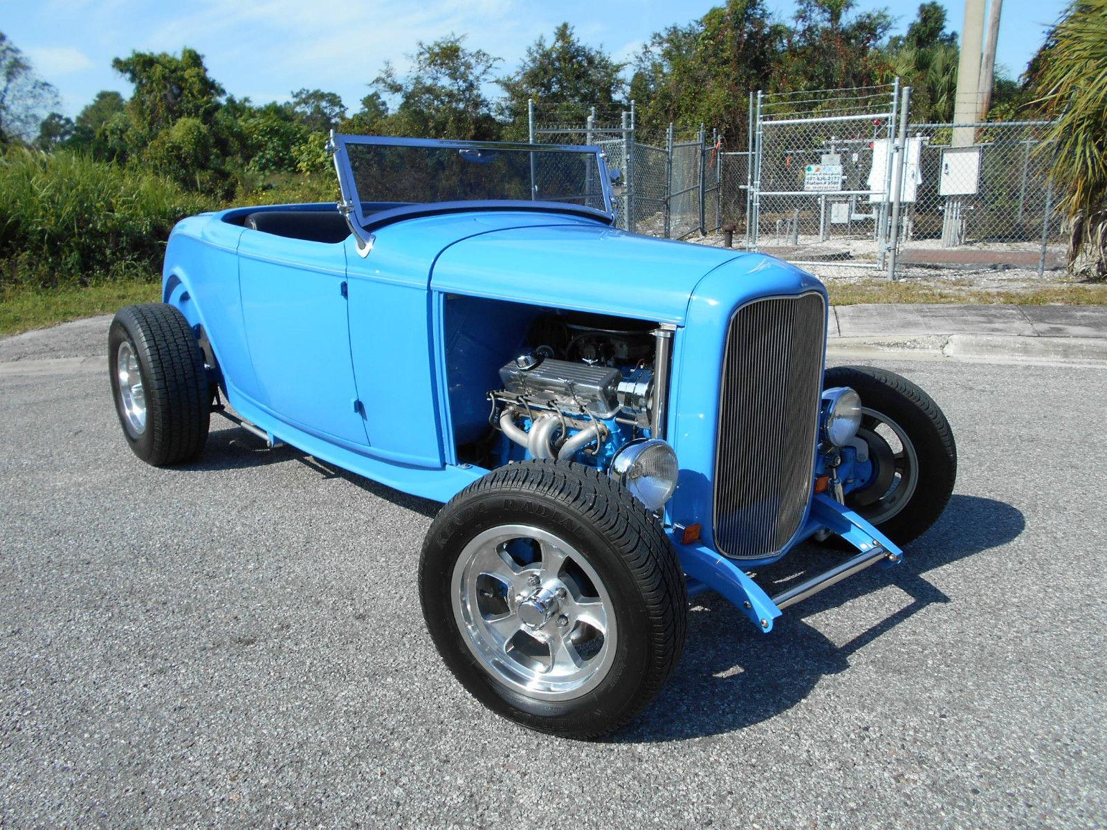 1932 Ford Roadster Highboy Street Rod,Grabber Blue,Auto,V-8,Old ...