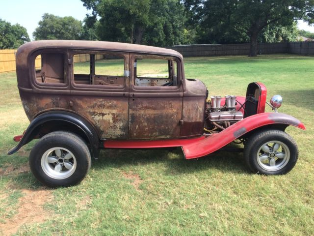 1932 Ford Sedan Four Door Gasser 32 Deuce Project Rat Rod