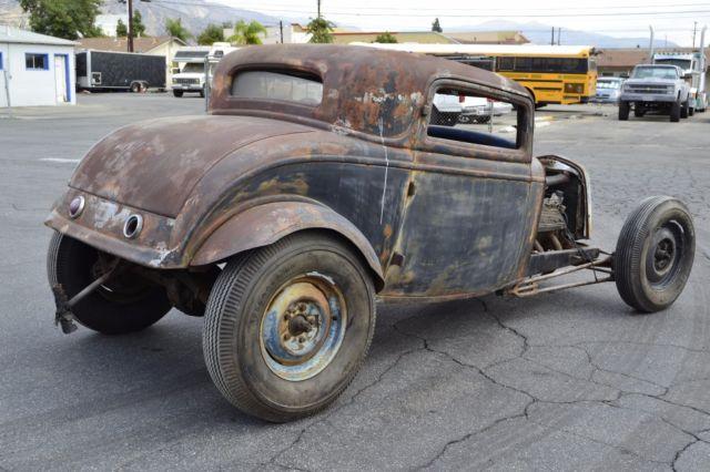 1932 Ford Three Window Barn Find Drag Car 3 Window Coupe
