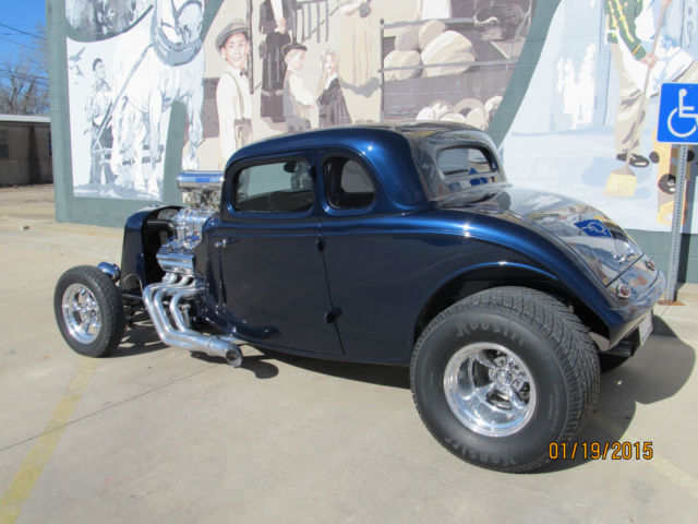 1933 Ford 5 Window Coupe Steel Body and Supercharged 392