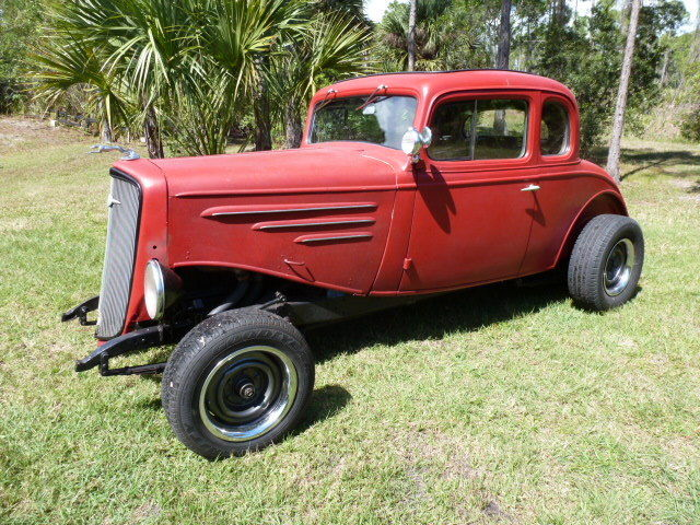 1934 Chevrolet Master Coupe 5 window high boy hot rod Steel car