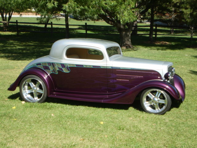 1934 Chevy 3wd Coupe Custom Street Rod Show Car Classic