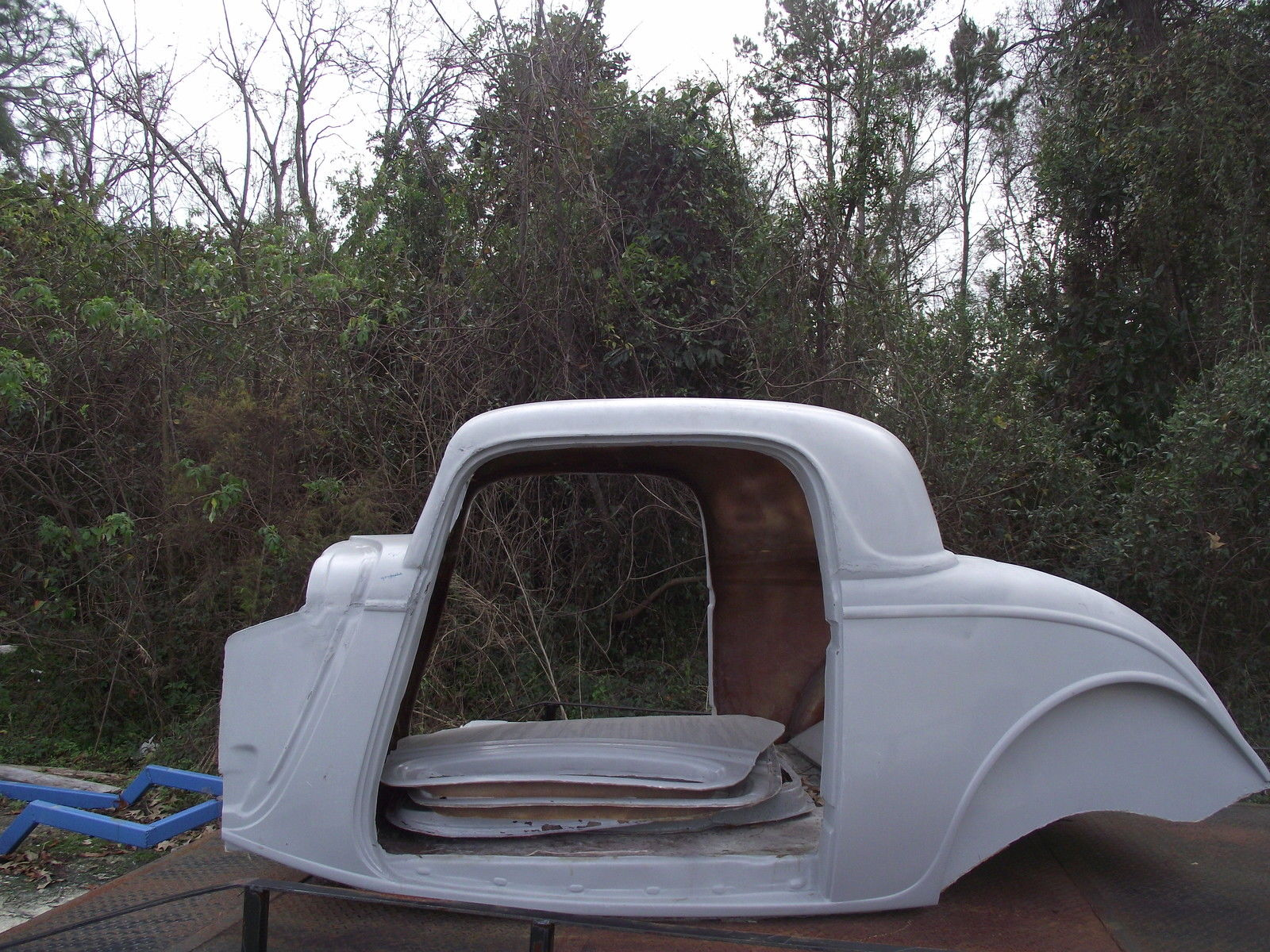 1934 ford 3 window 2 chop coupe fiberglass replica body