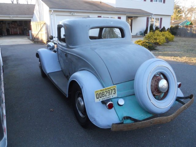 1934 ford 3 window coupe all steel,barn find,sleeper hot ...