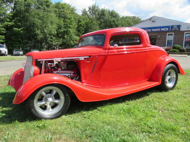 1934 Ford 3 Window Coupe, Custom Built, 7000 Miles, Chevy 350, MUST