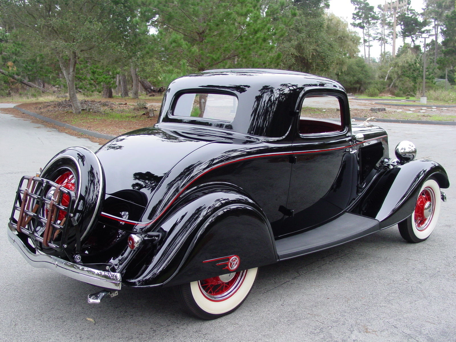1934 ford deluxe three window coupe with matching trailer for 1934 ford 3 window coupe