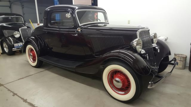 1934 Ford Original Restored Three Window Coupe Classic