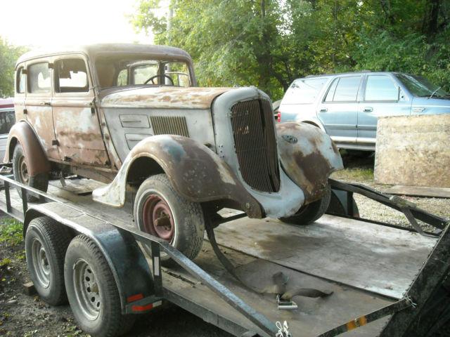 1934 plymouth sedan sedan delivery rat rod barn find hot rod