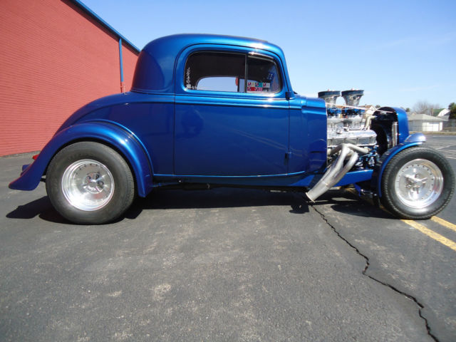 1935 CHEVY 3 WINDOW COUPE STREET ROD BIG BLOCK CUSTOM HOT ROD GASSER