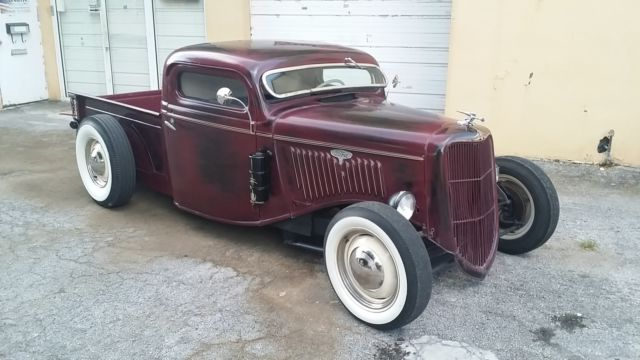 1935 Ford Pickup Truck Chopped Channeled Hot Rat Rod