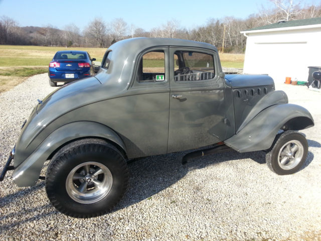 1941 Real Steel Nostalgia Willys Coupe Gasser Rat Rod – Fondos de