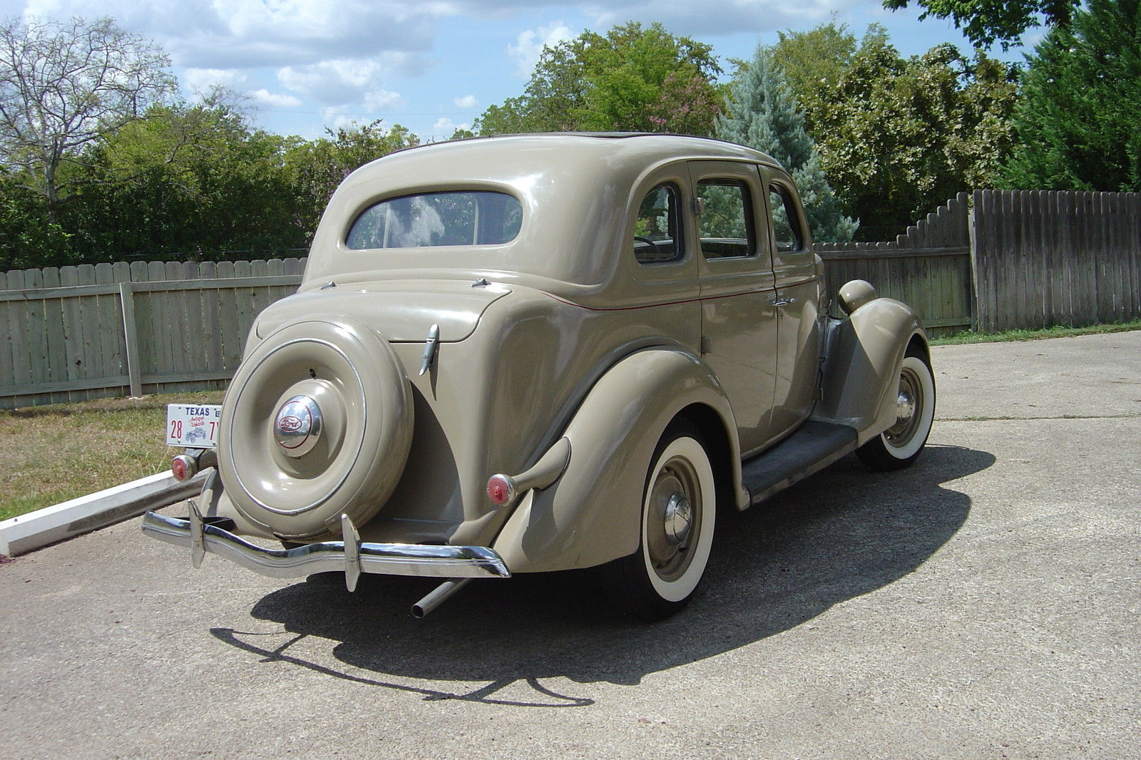 1936 ford 4 door all steel body tan sedan 4 new tires for 1936 ford 4 door sedan for sale